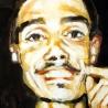 Portrait de Laurent Kermel, 60x60 cm, huile sur bois, 1993-1998.
