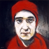 Portrait de Luca, 60x60 cm, huile sur bois, 1993-1998.