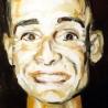 Portrait d'Olivier, 60x60 cm, huile sur bois, 1993-1998.