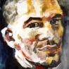 Portrait d'Eric Rinaldi, 60x60 cm, huile sur bois, 1993-1998.