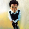 Portrait de Sam, 1,20x1,20 m, huile sur toile, 1993-1998.