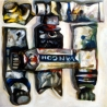 Sans titre, 1,20x1,20 m, huile sur toile, 1993-1998.